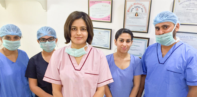 Dr. Sidhu with team - Clinic